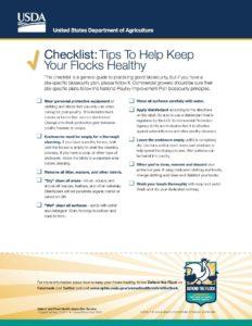 checklist to keep flocks healthy
