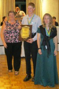 Heather Tweedie receiving award