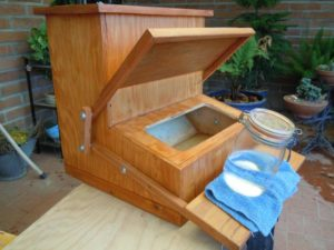 Do-it-Yourself Chicken Treadle Feeder
