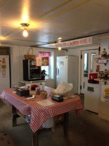 Hollister Hill Farm store sells pork, beefalo, chicken, maple syrup, eggs, raw milk, and seasonal produce. Photo by Rachel Carter