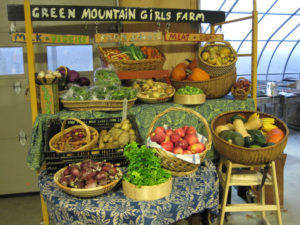 The on-farm store offers pasture-raised, sustainably managed pork, chicken, turkey and goat meat, vegetables as well as eggs and goat milk.