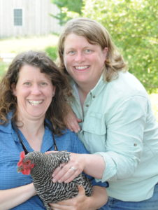 Mari Omland and Laura Olsen own the farm and manage many aspects of the local food production and tourism elements. All photos by Green Mountain Girls Farm