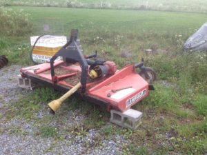 This is a three point hitch implement that is an important tool for mowing brush and pastures.