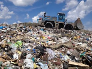 Less waste landfill
