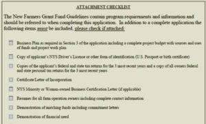 grant funds checklist