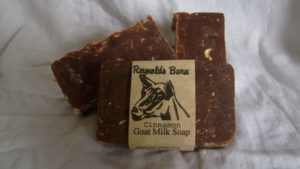 The cinnamon goat milk soap is one of the bestselling soaps. It is very soothing to irritated skin and moisturizing.