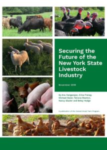 cover of Securing the Future of the New York State Livestock Industry report