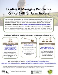 Flyer from the Labor Ready Farmer Program