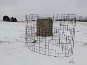 hay feeder goat panel