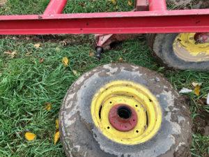 failed wheel hauling heavy loads rich taber