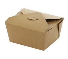 a cardboard takeaway box