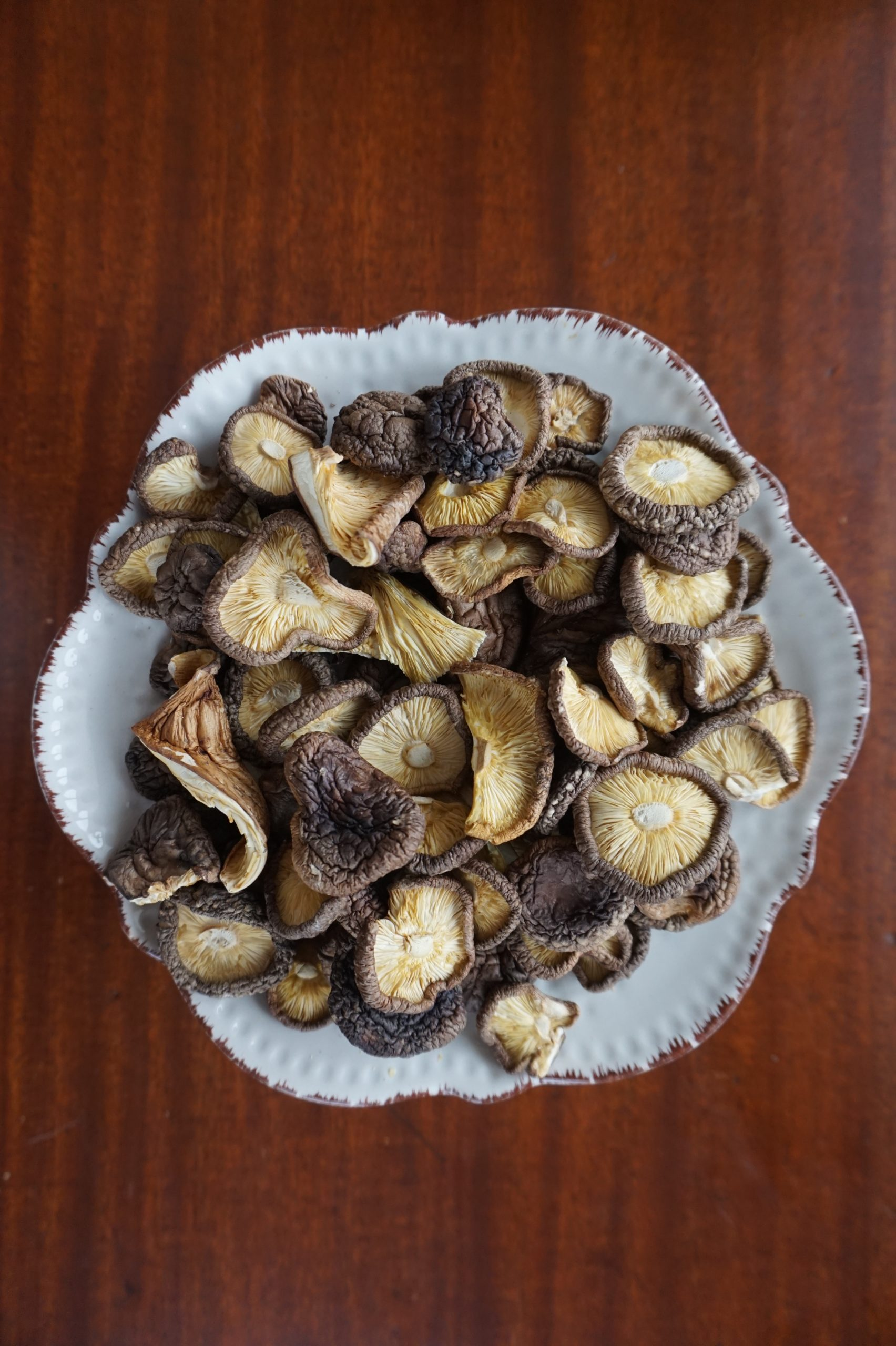 Dehydrating mushrooms is a good way to make a profit from less desirable mushrooms.