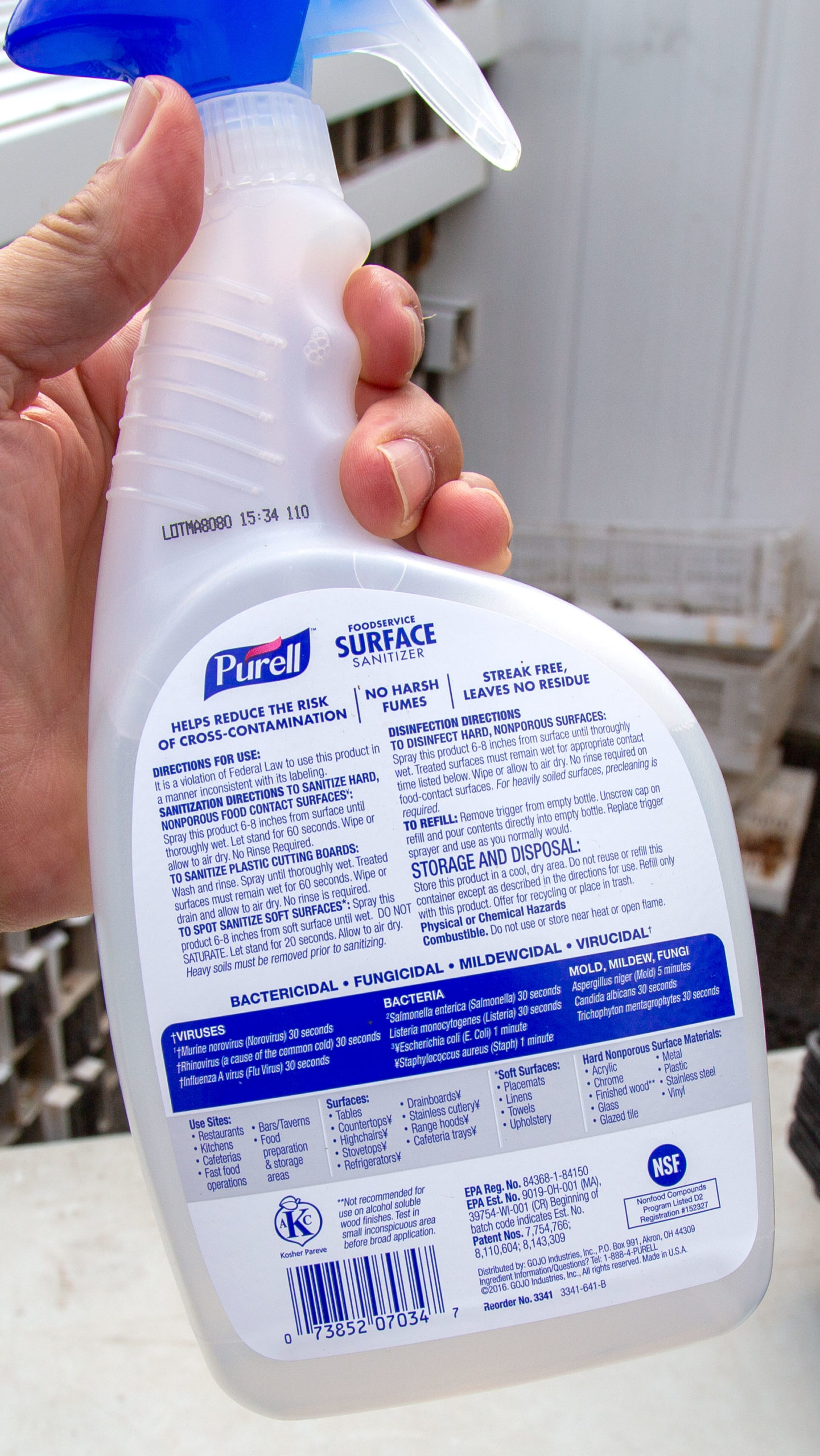 Establish a cleaning and sanitizing standard operating procedure. Rob Way / Cornell Produce Safety Alliance